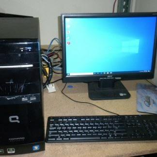 Compaq Presario CQ5727F Desktop PC Win 10 Pro Runs Good 264615410601