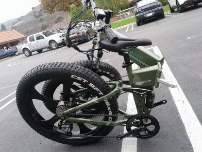 Fat Tire Folding Electric bike Ebike Full Suspension Big Tall Men Sand Snow 264297077395 5