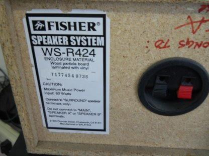 Vintage Fisher Surround sound satellite speakers 3 pcs 274417369509 6