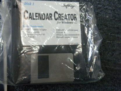 Calendar Creator for windows 95 CD ROM Floppy disk NEW 264350806545 5