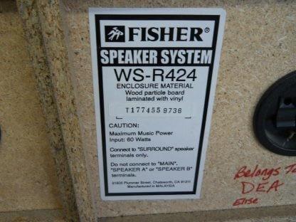Vintage Fisher Surround sound satellite speakers 3 pcs 274417369509 7