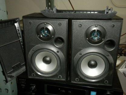Vintage Sony 5 disc CD changer Amplifier Speaker Set Works Perfect Looks Great 264594046341 2
