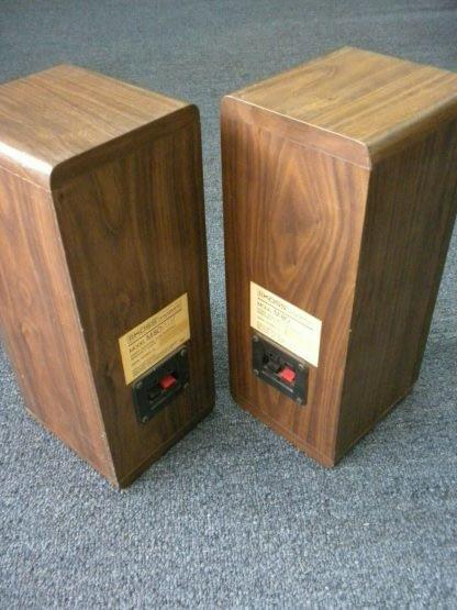 Vintage KOSS Dynamite M80 Plus Wood Bookshelf speakers dual Woofers Sounds Great 264570328625 8