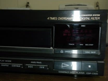 Sony CDP C500 5 Disc CD player changer Working 264580448053 2