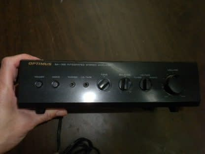 OPTIMUS MODEL SA 155 INTEGRATED STEREO AMPLIFIER USED 264261046657 3