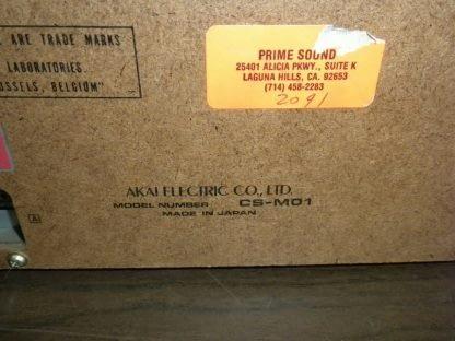 Akai CS M01A Dolby Cassette Deck Super Clean Needs Belt 273746090111 11
