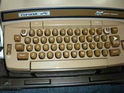 Smith Corona Coronet Super 12 Portable Electric Typewriter w Original Case 264263506353 6
