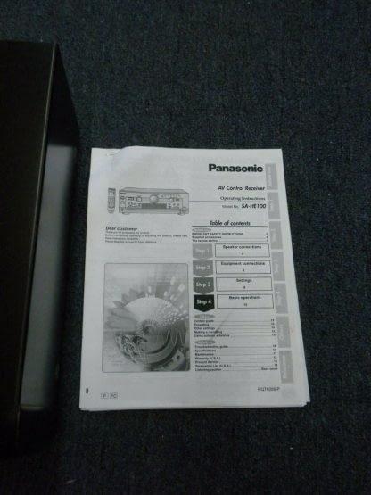 Panasonic SA HE100 350W Multi Input MOS FET Audio Video Home Theater Receiver 264277759756 4