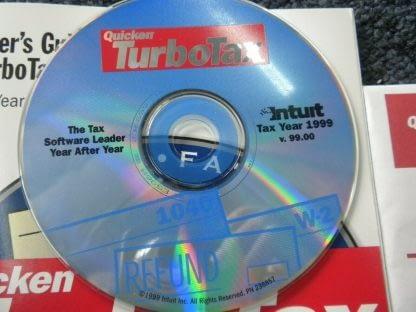 Intuit TurboTax 1999 Federal Return with Box Windows 264349538368 4