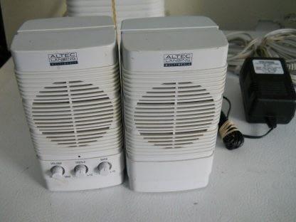 Classic Vintage ALTEC LANSING MULTIMEDIA PC Subwoofer Speakers Complete 274369652660 2