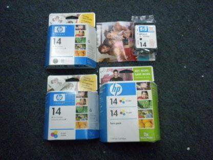Lot of 4 Genuine HP 14 Black TrI color ink Cartridge CP1160 C5011D Sealed NEW 274265552825