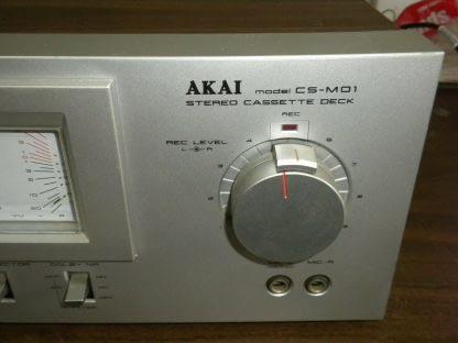 Akai CS M01A Dolby Cassette Deck Super Clean Needs Belt 273746090111 5