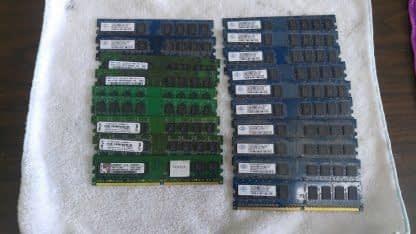 Lot of 19 1GB DDR2 Desktop RAM Memory DDR2 PC2 5300 PC2 6400 Non ECC 263959681933