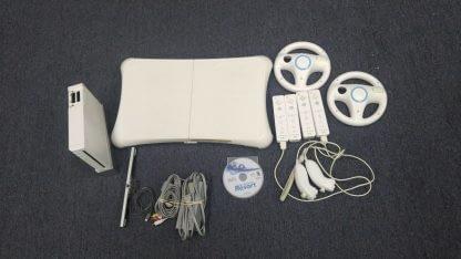 Nintendo Wii Lot 4 Controller 2 Nunchucks Balance Pad 2 Wheels Sensor Bar Works 273640354706 2