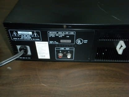 Sony CDP C500 5 Disc CD player changer Working 264580448053 8