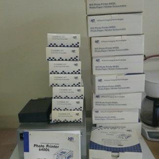 HiTi Hi Touch 640DL Dye Sub Printer 9 boxes paper 6 boxes cleaner Paper Jam 274689783957