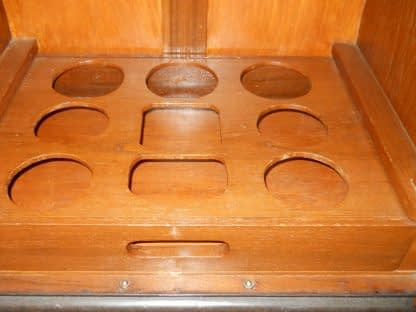 Vintage Wood Chinese hand carved Bar Coffee table stacked Table set Local pickup 264583501882 4