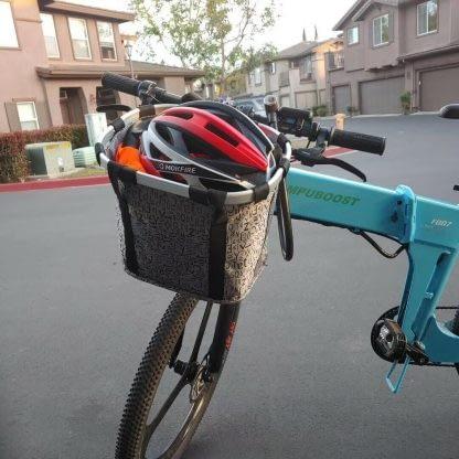 Bicycle Front Basket Removable Waterproof Bike Handlebar Basket Pet Carrier Fast 264768291585 5
