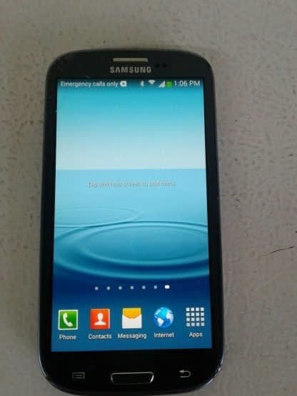 Samsung Galaxy S III SGH I747 16GB Pebble Blue ATT Cricket Android READ 264869995629 5