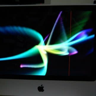 Apple iMac 20 Desktop 24GHZ 500GB Works But has one red vertical line 264760934187