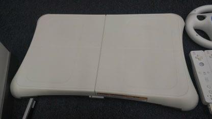 Nintendo Wii Lot 4 Controller 2 Nunchucks Balance Pad 2 Wheels Sensor Bar Works 273640354706 4