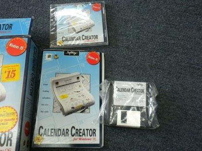 Calendar Creator for windows 95 CD ROM Floppy disk NEW 264350806545 3
