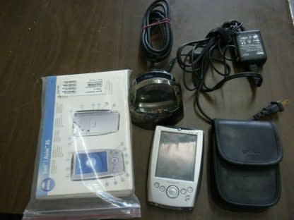 Vintage DELL AXIM Pocket PC X5 Stylus and Case Charger Dock Manual Works Good 264583201321