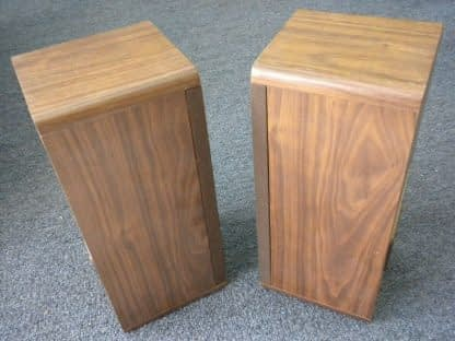 Vintage KOSS Dynamite M80 Plus Wood Bookshelf speakers dual Woofers Sounds Great 264570328625 10