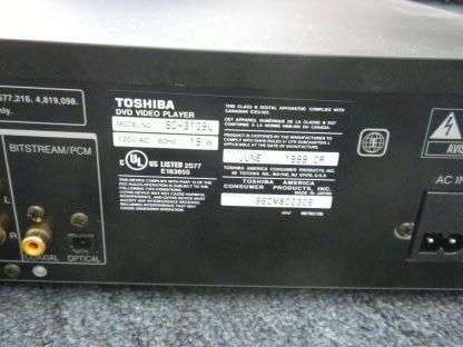 Vintage Toshiba Model SD 3109U DVD Video Player Dual Disc System w remote 273949770125 6