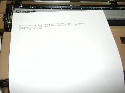 Smith Corona Coronet Super 12 Portable Electric Typewriter w Original Case 264263506353 5