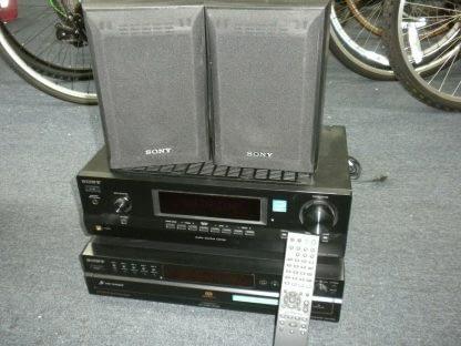 Vintage Sony 5 disc CD changer Amplifier Speaker Set Works Perfect Looks Great 264594046341
