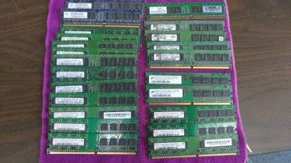 Lot of 23 Mixed brands 512MB PC2 3200 PC2 4200 PC2 5300 desktop RAM Memory 264304665653 2